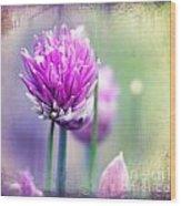 Fleurs De Oboulette Wood Print