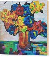 Fleurs De Vigne Wood Print