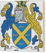 Fleury Coat Of Arms Irish Wood Print