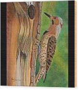Flicker Wood Print by Amy Reisland-Speer