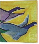 Flight By Jrr Wood Print