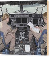 Flight Captains Review Flight Wood Print