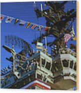 Flight Deck Of The Uss Kennedy Aircraft Wood Print