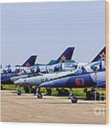 Flight Line At The E.a.a. Wood Print