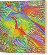 Flight Of Colour And Bliss Wood Print