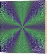 Flight Of Fancy Fractal In Green And Purple Wood Print