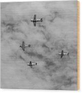 Flight Of Four Wood Print