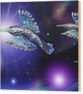 Flight Of The Silver Birds Wood Print by Hartmut Jager