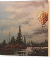 Flight Of The Swan 2 Wood Print