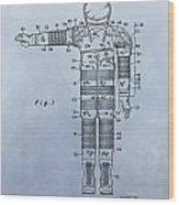Flight Suit Patent Wood Print