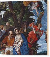 Flight To Egypt With Angels Wood Print