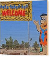 Flinstones Bedrock City In Arizona Wood Print