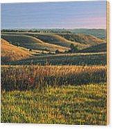 Flint Hills Shadow Dance Wood Print by Rod Seel