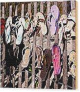 Flip Flops By Jan Marvin Wood Print