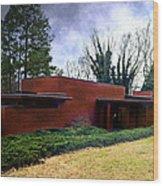 Fllw Rosenbaum Usonian House - 1 Wood Print