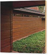 Fllw Rosenbaum Usonian House - 2 Wood Print