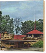 Fllw Welcome Center - Spring Green- Wisconsin Wood Print