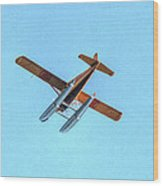 Float Plane Fly Over Pacific Northwest Wood Print
