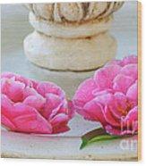Floating Camellias Wood Print