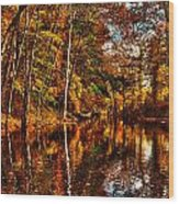 Floating Down Heavenly River. Wood Print