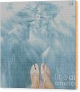 Floating Feet Wood Print