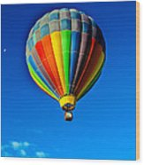 Floating Free In A Hot Air  Balloon Wood Print