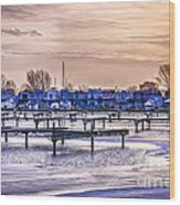 Floating Homes At Bluffers Park Marina Wood Print