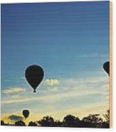 Floating In The Air At Sundown Wood Print
