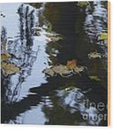 Floating Leaves Wood Print