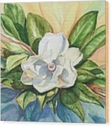 Floating Magnolia Wood Print