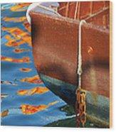 Floating On Blue 11 Wood Print