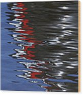 Floating On Blue 14 Wood Print