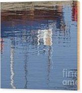 Floating On Blue 21 Wood Print
