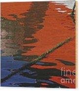 Floating On Blue 26 Wood Print