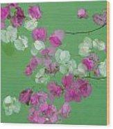 Floating Petals Wood Print