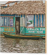 Floating Pub In Shanty Town Wood Print