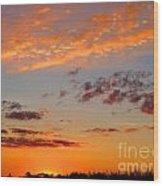 Floating Sunset Wood Print