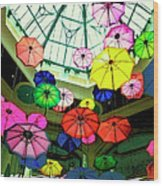 Floating Umbrellas In Las Vegas  Wood Print