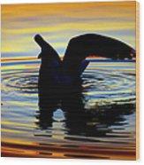 Floating Wings Wood Print