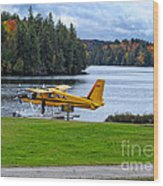 Floatplane In Fall Wood Print