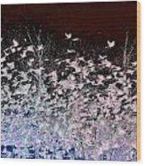 Flockphenomenon Wood Print