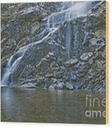 Flood Falls II Wood Print