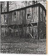 Flood House In Mississippi Delta Wood Print