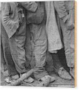 Flood Refugees, 1937 Wood Print