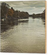 Flood Waters Milwaukee River 2013 Wood Print