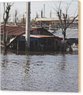 Flooding Of Stores And Shops In Bangkok Thailand - 01138 Wood Print by DC Photographer