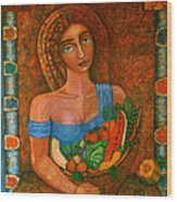 Flora - Goddess Of The Seeds Wood Print