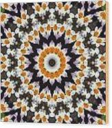 Flora Kaleidoscope Wood Print