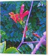 Floral 5 Wood Print