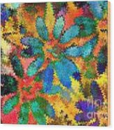 Floral Abstract Photoart Wood Print